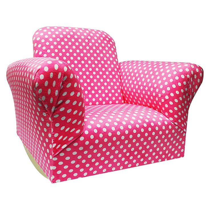 Komfy Kings Hot Pink Upholstered Kids Rocker Chair Kids