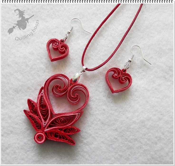 Piros Valentin szett.