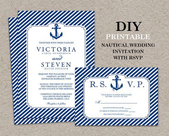 1000 images about Nautical Wedding – Nautical Wedding Invite