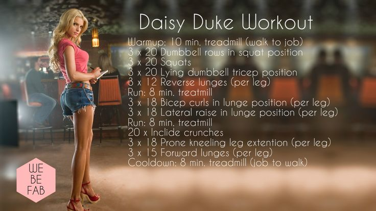 Jessica Simpson / Daisy Duke Workout | WeBeFab
