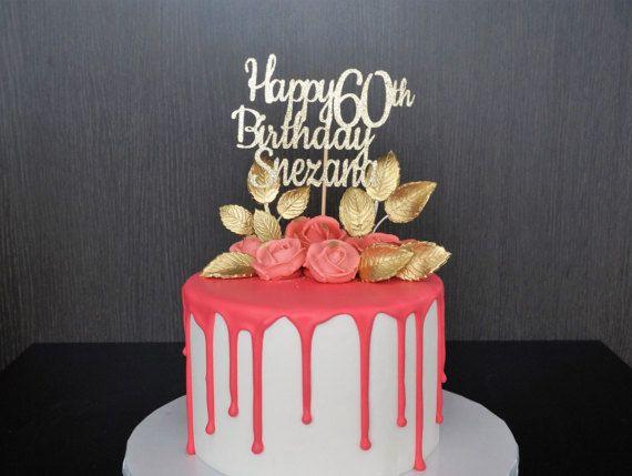 Any Name Age Happy Birthday Cake Topper