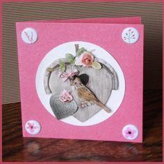 Carte nichoir avec oiseau