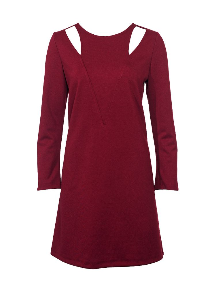Long sleeve dress with cut outs.
