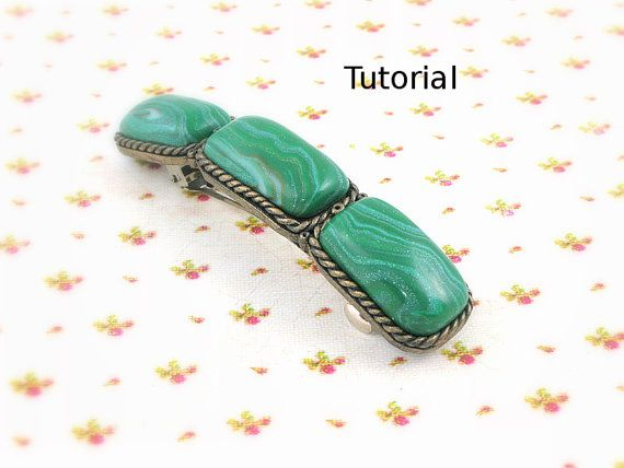 Polymer clay tutorial. Faux Malachite polymer clay by tatianakorba, $10.00