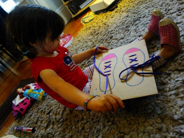 The best way to teach shoe-tying @babycenter