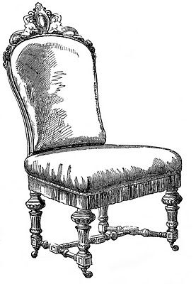 Vintage Clip Art - Frenchy Chairs - The Graphics Fairy