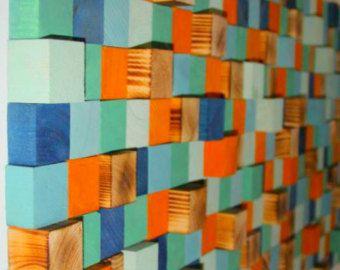 Hout Wall Art teruggewonnen hout kunst mozaïek hout Wall Art