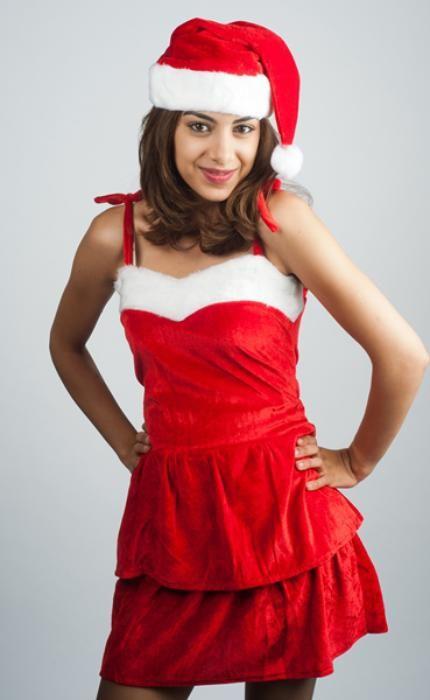 woman santa dress - Las Fiestas