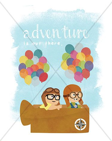 "Disney Pixar Up ""Adventure is out there"" Carl & Ellie - 8x10 Instant Download Print Frame Wall Decor Printable DIY"