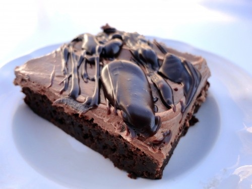 Mocha-Frosted Kahlua Brownies