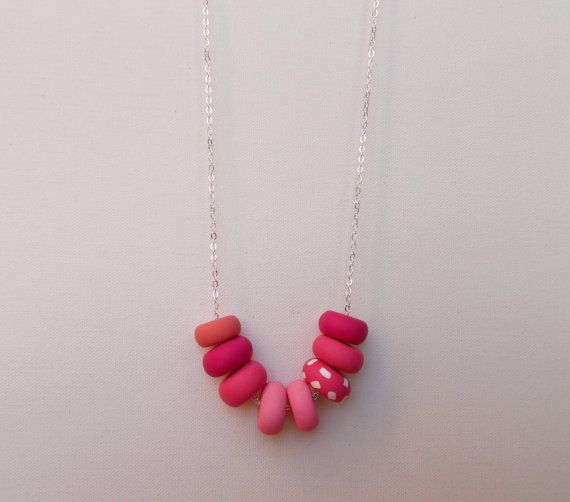 Handcrafted polymer clay necklace in Red Velvet Cake, by craft & folk  https://www.etsy.com/ie/listing/219486649/red-velvet-cake-handmade-polymer-clay?ref=shop_home_active_3