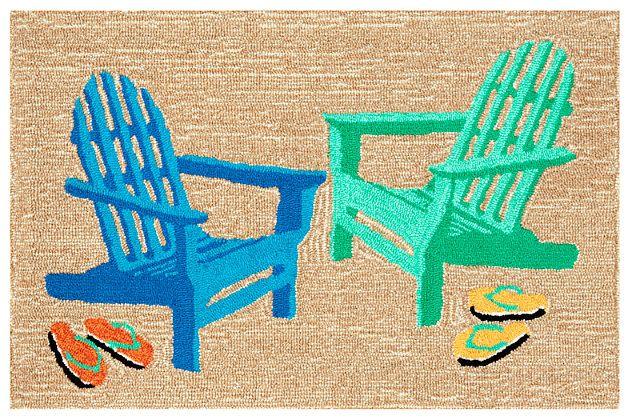 Home Accents Deckside Rustic Indoor/Outdoor Doormat 2' x 3' by Ashley HomeStore, Tan