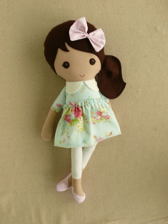 Reserved for Sarah Fabric Doll Rag Doll Brown by rovingovine