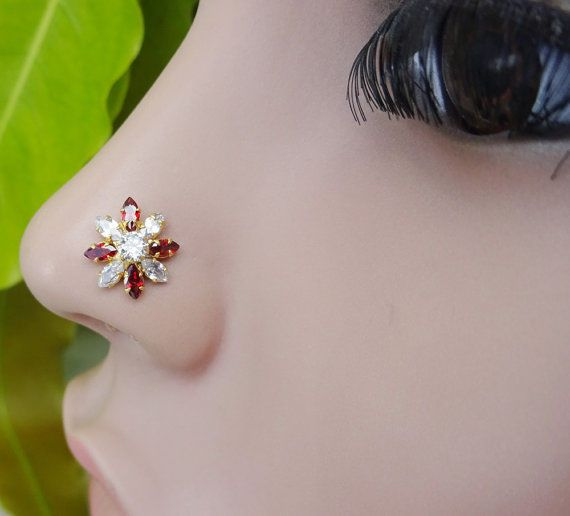 Traditional Nose Hoop,Indian Nose Ring,Medusa Piercing ,Nose Stud,Gold Nose Ring #BodyJewelry