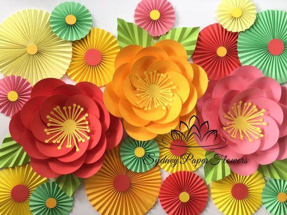 Papier fleur MAXI toile de fond et de la princesse fête/anniversaire fête/bébé douche/Bridal shower de mariage tableau toile de fond/baptême/Dessert sucré/table