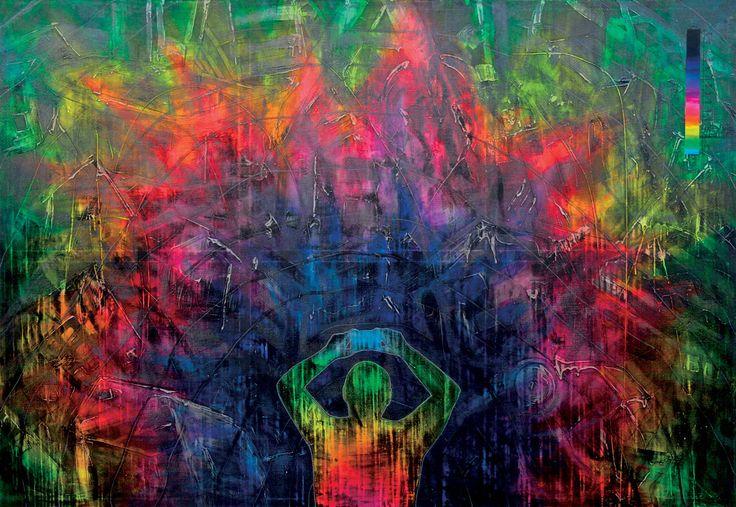 """New(s) Paintings"", Tsunami w Japonii / marzec 2011 #art #painting #tsunami #cyberculture"