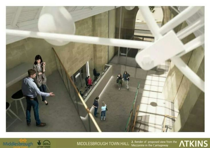 Proposed view from the Carriageway mezzanine,  Middlesbrough Town Hall