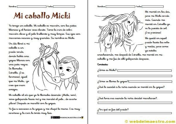 II>★★★★ Fichas de comprensión lectora - Recursos educativos y material didáctico para niños de primaria. Descarga Fichas de comprensión lectora gratis.