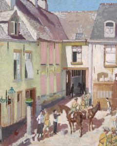 The Courtyard, Hotel Sauvage, Cassel, Nord | Imperial War Museums