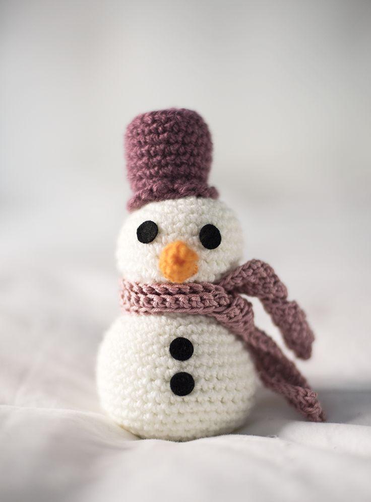 Patr n de mu eco de nieve gratis free snow man crochet - Bonhomme de neige au crochet ...