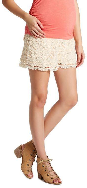 Jessica Simpson Under Belly Smocked Waist Maternity Shorts