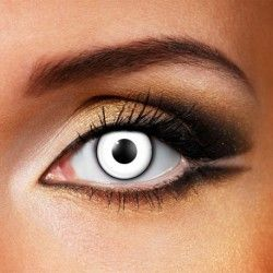 VAMPFANGS.COM  Complete your DIY look with some White Manson Lenses!  White Manson Halloween Coloured Contact Lenses (Daily)