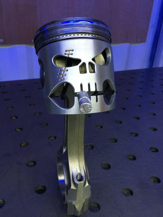 Piston skull by indufur on Etsy