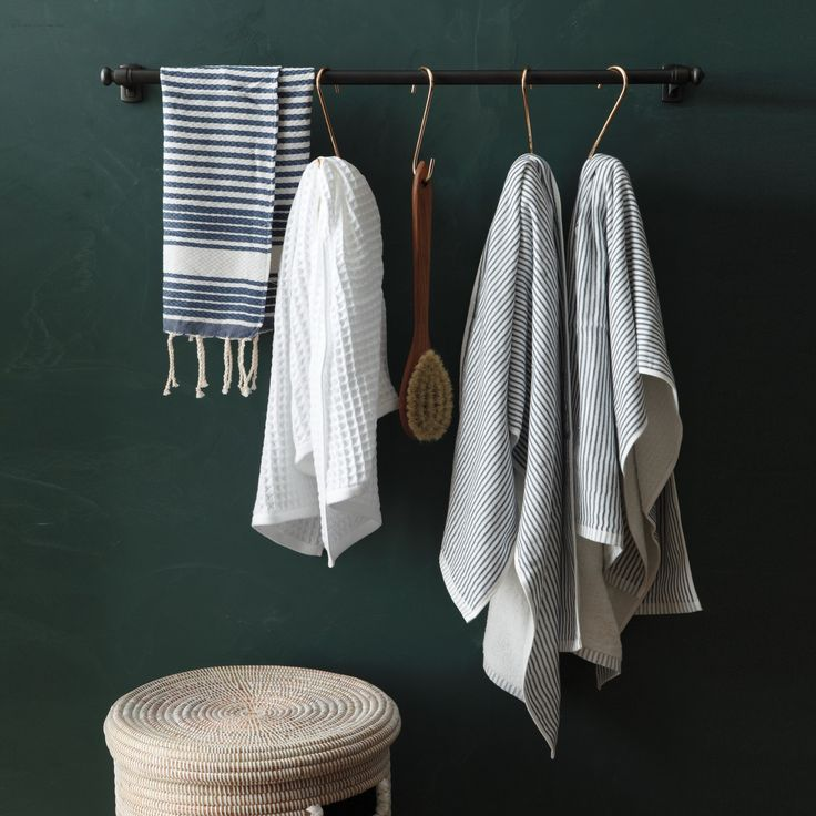 Indispensable in the kitchen (for hanging pots) and the garage (for hanging tools), oversize S hooks are just as handy in the bathroom.