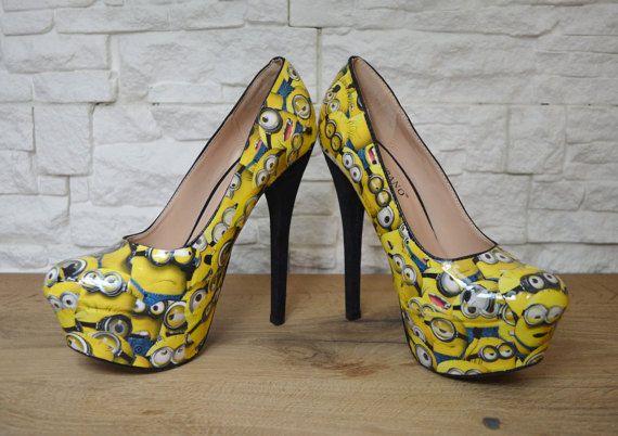 Minions Custom Handmade Heels by IdidntDothat