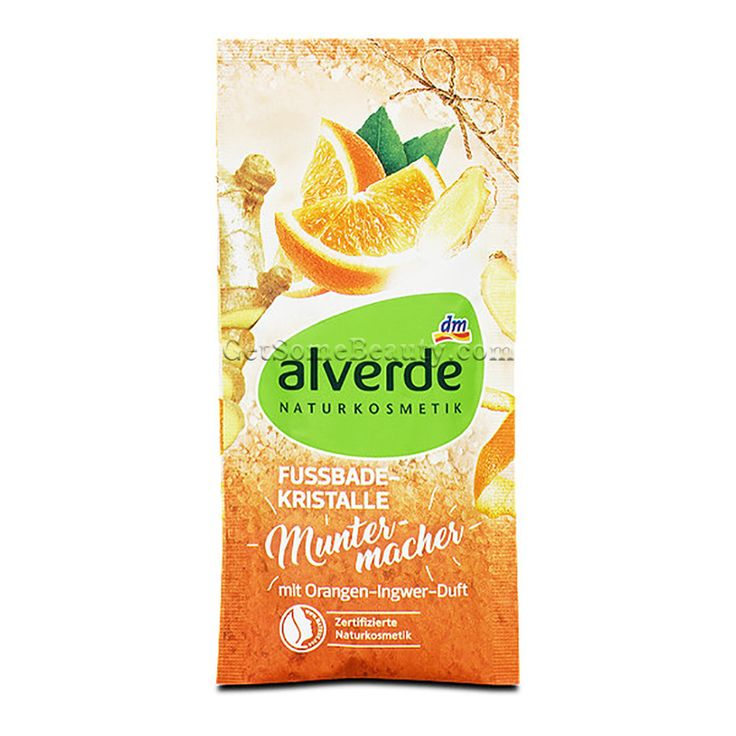 ALVERDE Natural Cosmetics Foot Bath Crystals Pick-Me-Up 40 g | Get Some Beauty