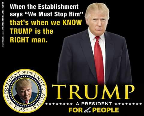 Donald Trump Republican Candidate .. now the USA President-Elect#45. Nov.8,2016. It was a complete political upset...winning over Democrat, Hillary Clinton. The pundits all has her winning.
