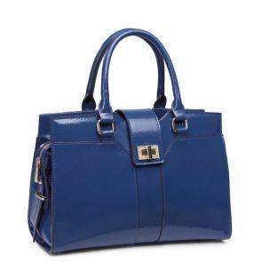Elegancka klasyczna teczka w kolorze niebieskim