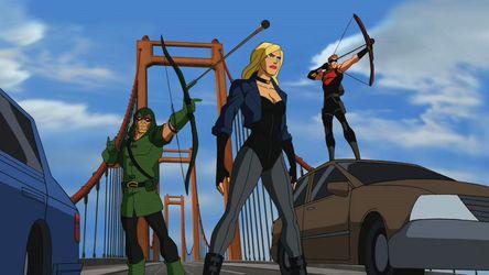 Green Arrow, Oliver Queen; Roy Harper, Red Arrow; Dinah ...