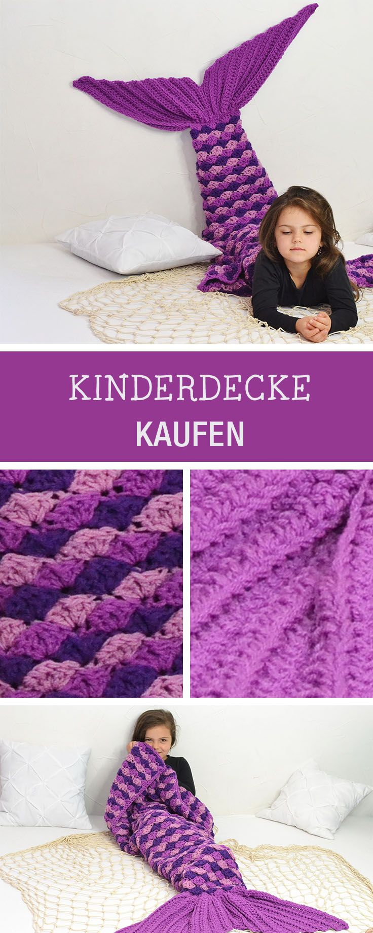 Gestrickte Meerjungfrauen-Decke für Kinder, Geschenkidee / magic christmas gift idea: knitted mermaid blanket via DaWanda.com