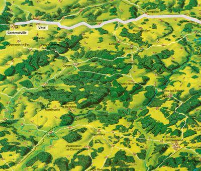 Die Grüne Strasse - Übersichtskarte