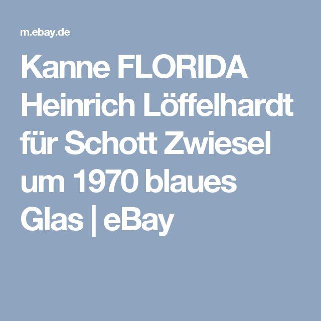 Kanne FLORIDA Heinrich Löffelhardt für Schott Zwiesel um 1970 blaues Glas | eBay