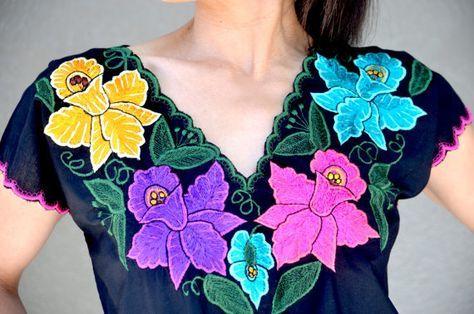 bordados para blusas de manta - Buscar con Google
