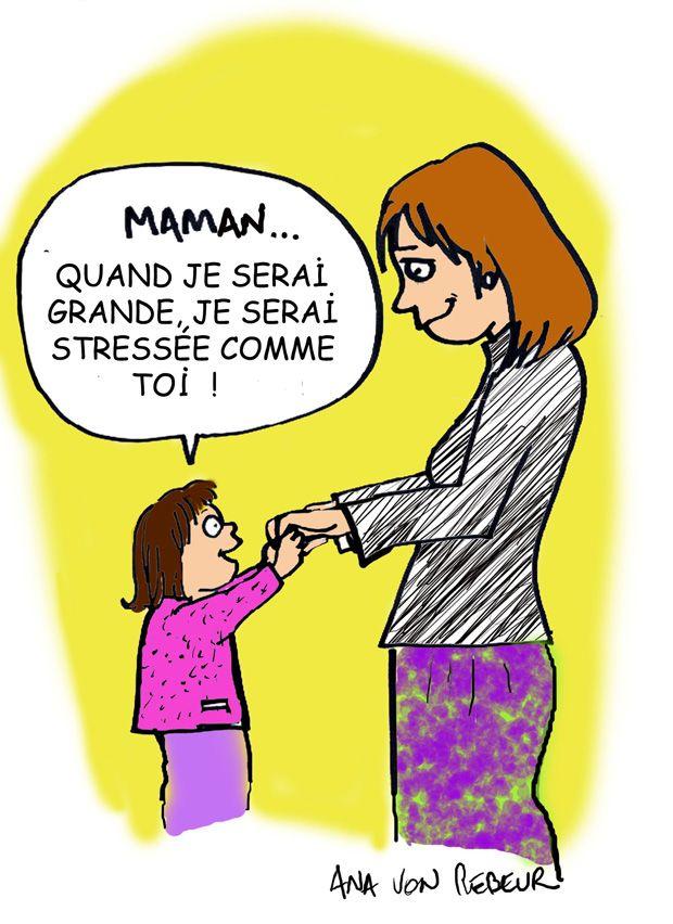 La mère stressée