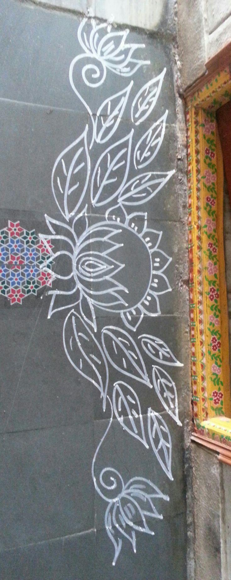 Lotus....border rangoli