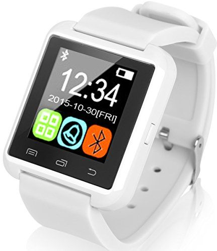Kocaso Bluetooth [Android Écran tactile] [résistant à l'eau] podomètre/sommeil tracker/haut-parleur intégré/Mic [Smart Watch] pour iPhone 7…