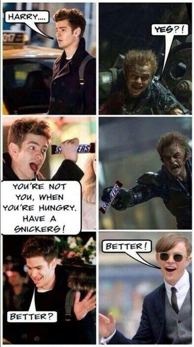 Haha peter parker and harry Osborn. The Amazing Spider-Man 2