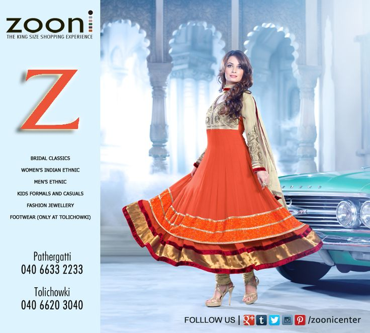 Let #Zooni sweep you away with its Magnificient wardrobe. Dress to impress with Zooni Center.
