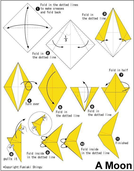 Origami Moon