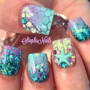 Mermaid nails just love them