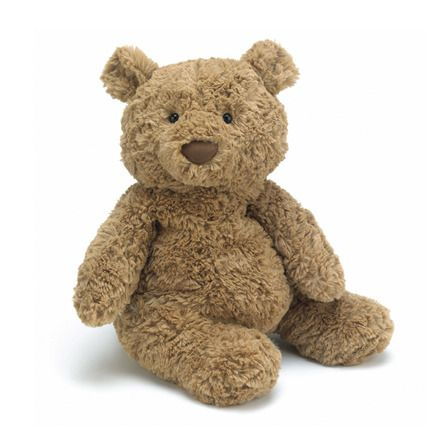 This is perhaps the most wonderful teddy bear ever. Jellycat toys! Even cuter with a handmade scarf!