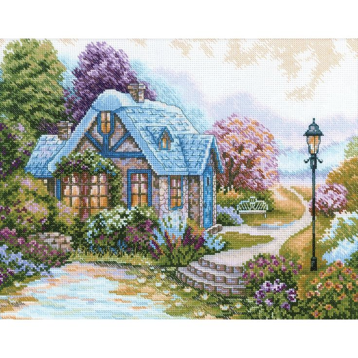 """Home Sweet Home Counted Cross Stitch Kit-13-1/2""""X10-5/8"""" 14 Count: Amazon.co.uk: Kitchen & Home"""