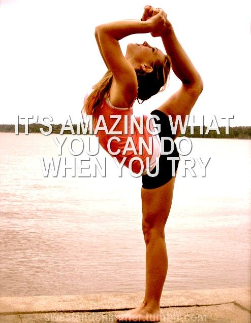 "So true!:) hey, I was wondering, is there anyone who would like to be like my personal ""health & fitness"" trainer? Like a cheerleader, or a gymnast, or idk, just someone that wants to do it, please comment!! Thanks! -Emi:)"
