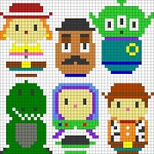 Toy Story Cross Stitch or Perler Bead Pattern