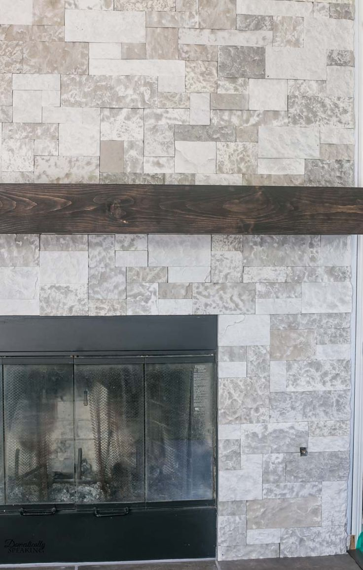 Learn How To Make Your Own Diy Rustic Fireplace Mantel Easy Wood