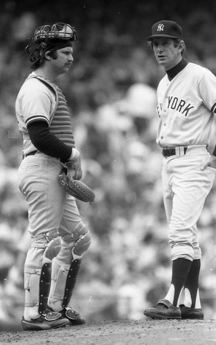 Thurman Munson and Billy Martin - NY Yankees